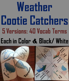 Weather Activity Cootie Catcher Game: Fronts, Precipitation, Storms, Clouds etc.
