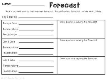 Weather Unit / Weather Activities / 2nd grade Weather