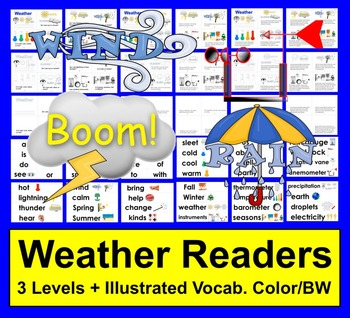 Weather Readers:  Differentiated with 3 Levels + Illustrat
