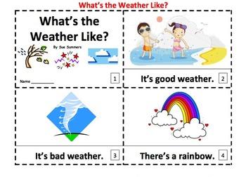 Weather 2 Emergent Reader Booklets Version II