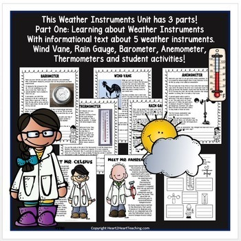 Learning all about Weather Tools: Articles, Activities, & Flip Book