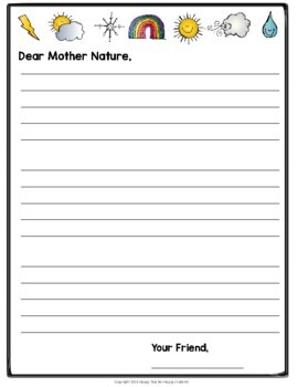 Weather Writing: Dear Mother Nature, PLEASE Give Us Better Weather!