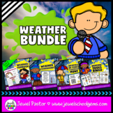 Weather Activities BUNDLE (PowerPoint, Flipbook and QR Codes Scavenger Hunt)