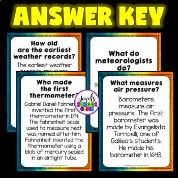 Weather Activities (Weather QR Codes Scavenger Hunt)