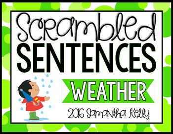Weather Scrambled Sentence Station