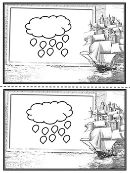 Weather - Coloring book - Mini Book - Weather Graphing -  Weather cards