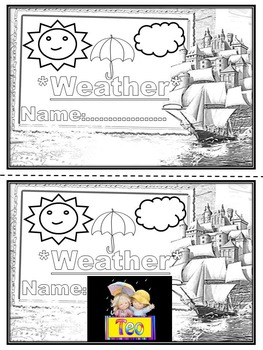 Weather Coloring book Mini Book Weather Graphing Weather cards