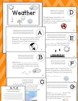 Weather Activities & ABC Book