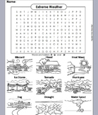 Severe Weather Word Search Worksheet: Hurricane, Tornado, Drought, etc