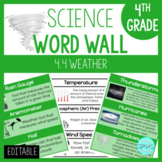 Weather 4.4: 4th Grade Science Word Wall
