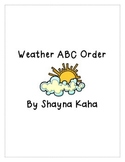 Weather ABC Order
