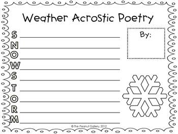 Weather Acrostic Poetry