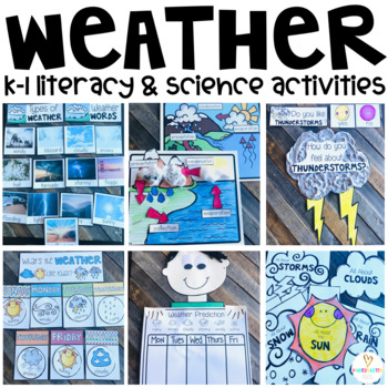 Weather Activities (20+ Sorting, Writing & ELA Printables) K-1