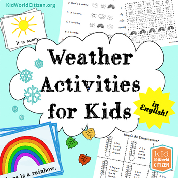 Weather Activities for Kids ~ English: Seasons, Temperature, 2 Weather Minibooks