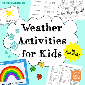 Weather Activities for Kids ~ Spanish: Seasons, Temperature, 2 Weather Minibooks