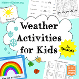 Weather Activities for Kids ~ Spanish: Seasons, Temperature, 2 Weather Minibooks