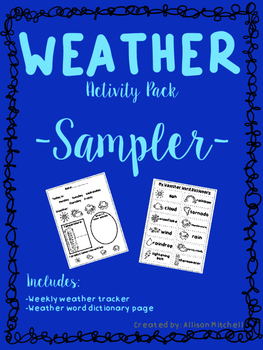 Weather Activity Pack-Sampler