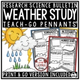 Weather and Climate Activities Poster Teach- Go Pennants™ Weather Tracking Chart