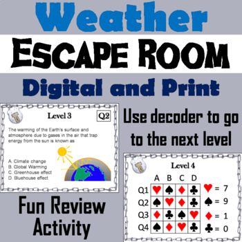 Weather Escape Room - Science