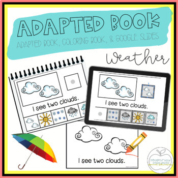 Weather Adapted Book & Student Book for Early Childhood Special Ed