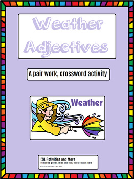 ESL pairwork activity 'Weather Adjectives'