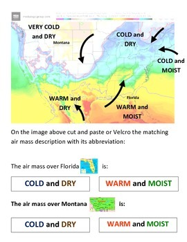 Weather: Air Masses - Multi Leveled (COLORFUL; lots of Weather Forecasting Fun!)