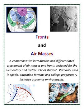 Weather: Air Masses and Fronts ALL GRADES Curriculum (Forecasting FUN!)