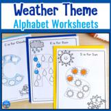 Weather Alphabet Worksheets