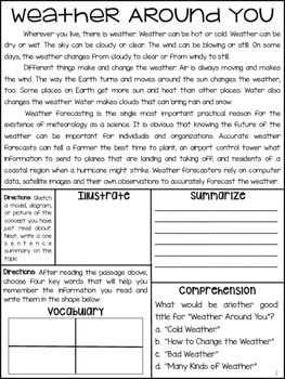 Weather Articles about Climate, Fog, Snow, Wind, & Rain. Nonfiction Articles