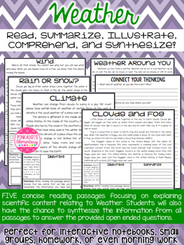 Weather Articles about Climate, Fog, Snow, Wind, & Rain. N