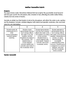 Weather Assessment and Rubric