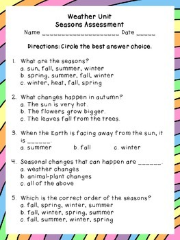 Weather Assessment on the Seasons