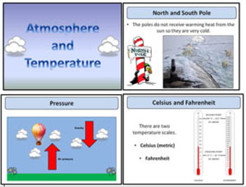 Weather- Atmosphere & Temperature - Presentation and Guide