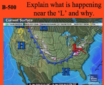Weather & Atmosphere Unit Review Materials - Jeopardy Lesson, Vocabulary