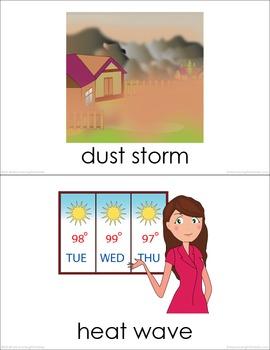 Weather BUNDLE (Set I, II) Picture Flashcards