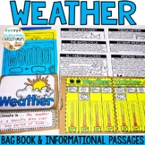 Weather Bag Book   Interactive Notebook   Weather Activity