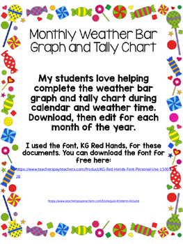 Weather Bar Graph and Tally Chart
