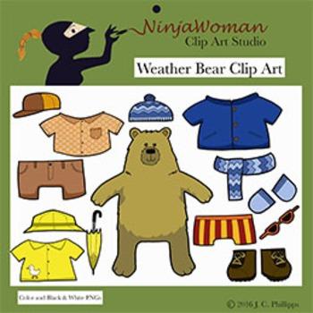 Weather Bear Clip Art