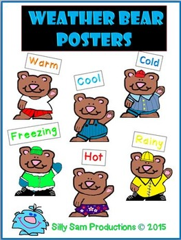 Weather Bear Posters