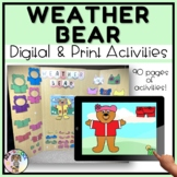 Weather Bear for Circle Time      BOOM CARDS (Preschool and Special Education)