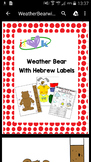 Weather Bearmotions- Original Clipart and labels
