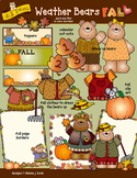 Weather Bears Fall Clip Art Download
