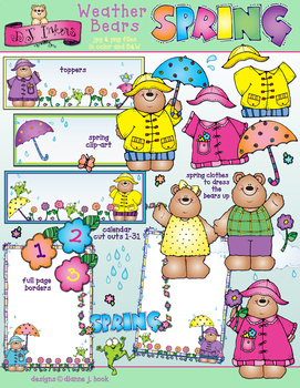 Weather Bears Spring Clip Art Download