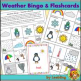 Weather Bingo Game, Flash Cards and Write Around the Room