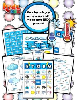 Weather Bingo / Matching Activities