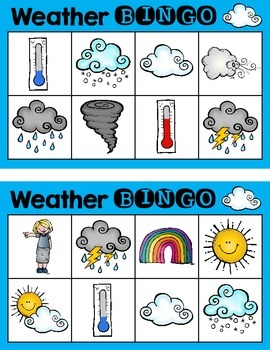 Weather Bingo {Small Group Science Activity}