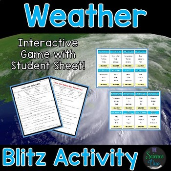 Weather Blitz Activity