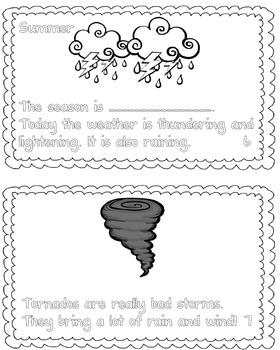 Weather Book for Emergent Readers