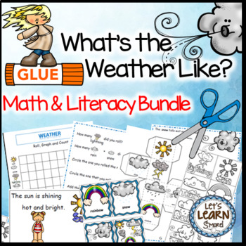 Weather, Math and Literacy, Weather Theme Activities Bundle, Weather Unit