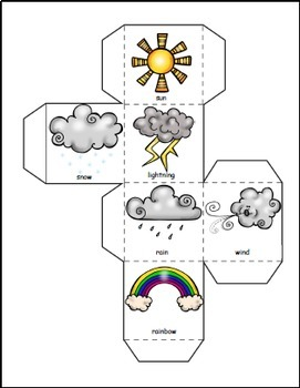 Weather Activities Math and Literacy Bundle, Weather Theme for Weather Unit